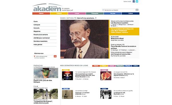 Le site d'Akadem