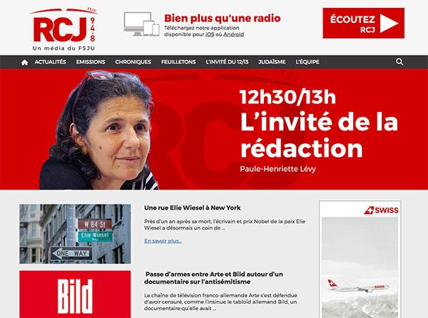 Le site de la radio RCJ