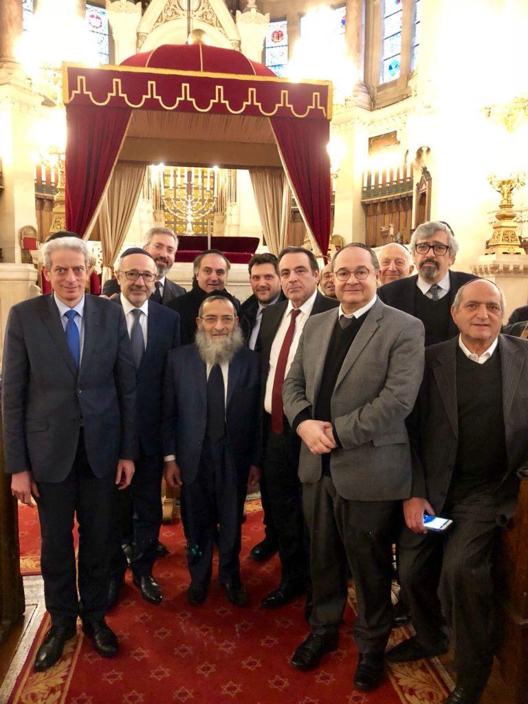 Visite du Grand Rabbin de Tunisie à Paris