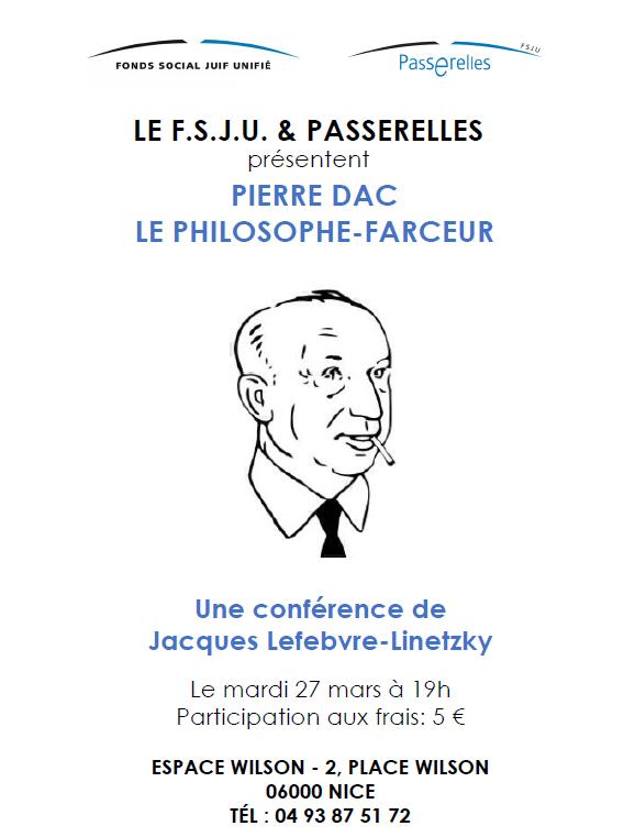 Conférence sur Pierre DAC