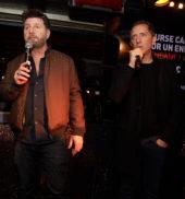 Gad Elmaleh et Philippe Lellouche pendant la soirée Studio 54