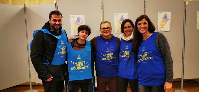 Les équipes du FSJU pendant la Nuit de le Solidarité