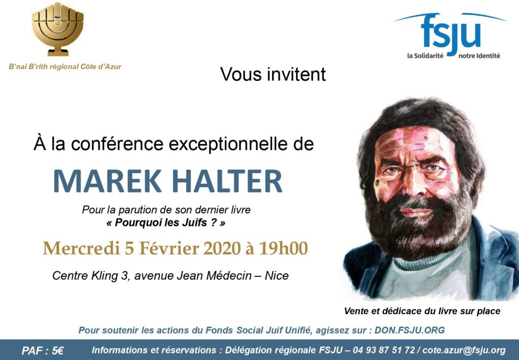 Conférence Marek Halter à Nice
