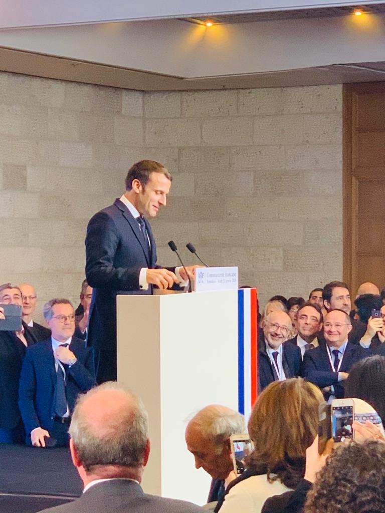 Emmanuel Macron avec la communauté française en Israël