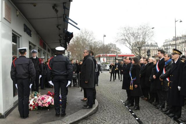 Commémoration des attentats Charlie Hebdo et Hyper Cacher