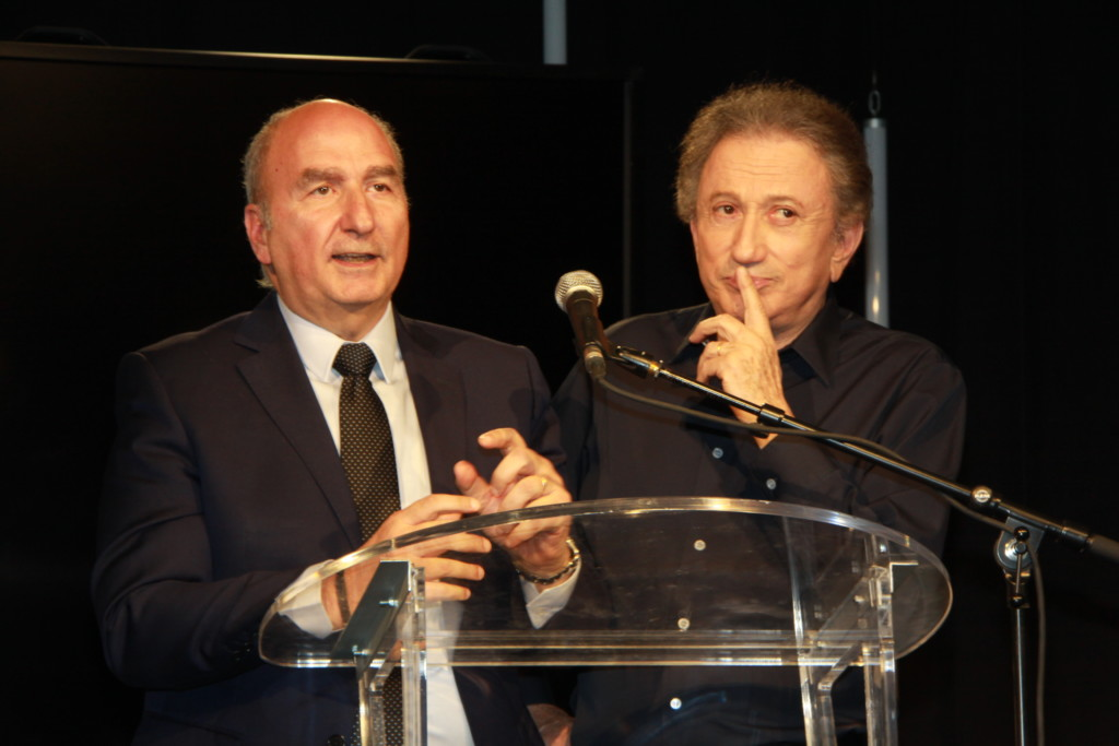 Michel Drucker à la soirée de gala de FSJU à Lyon