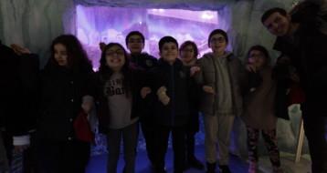 la fin de l'aquarium : les enfant sont contents !