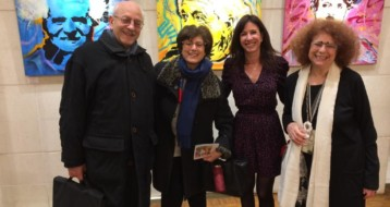 Vernissage de Dan Groover, invités et Laurence Borot