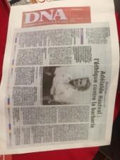 Une photo de l'article dans les DNA presse régional (dernières nouvelles d'alsace)